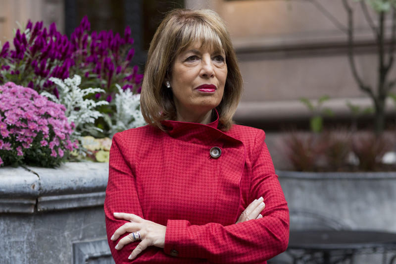 "In this Monday, Oct. 15, 2018 photo, Congresswoman Jackie Speier (D-CA) poses for a portrait in New York. Soon after the #MeToo movement began a year ago Speier spoke out. ""I wanted women in Congress to know they can come and talk to me and they would be safe and I would have their backs,"" she said. (AP Photo/Mark Lennihan)"