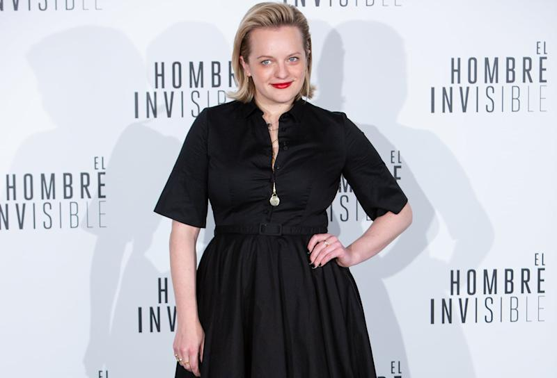 MADRID, SPAIN - FEBRUARY 19: US actress Elisabeth Moss attends 'El Hombre Invisible' ('Invisible Man') photocall at Villa Magna Hotel on February 19, 2020 in Madrid, Spain. (Photo by Pablo Cuadra/FilmMagic)