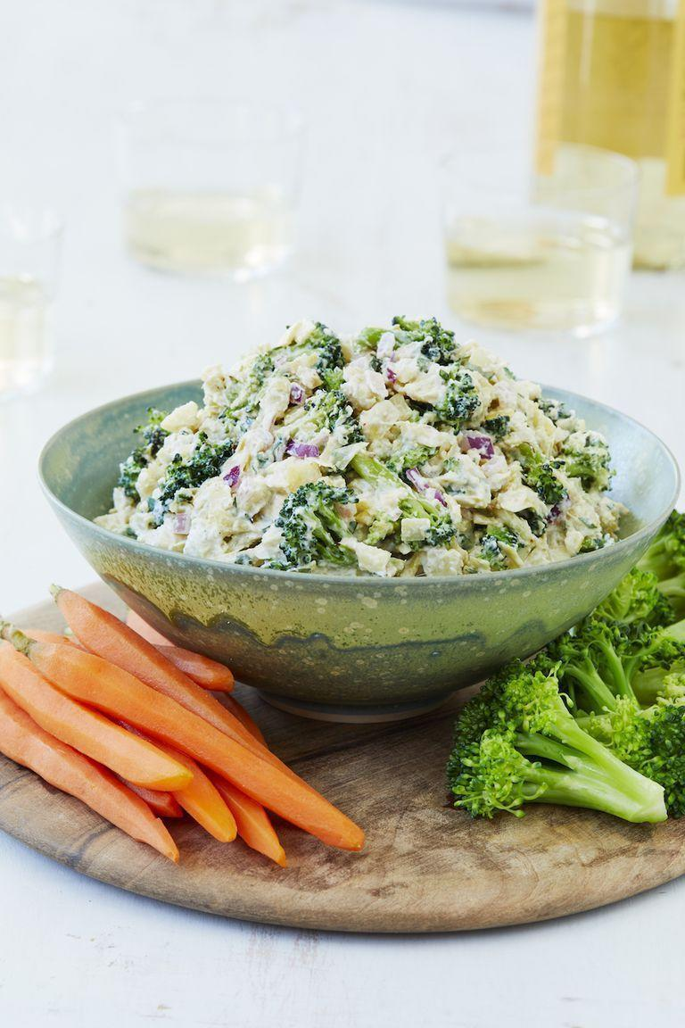 """<p>This healthy veggie dip is literally packed full of veggies, and is a great way to get kids to get important vitamins and fiber. </p><p><em><a href=""""https://www.womansday.com/food-recipes/food-drinks/a25652922/roasted-broccoliartichoke-dip-recipe/"""" rel=""""nofollow noopener"""" target=""""_blank"""" data-ylk=""""slk:Get the Broccoli Artichoke Dip recipe"""" class=""""link rapid-noclick-resp"""">Get the Broccoli Artichoke Dip recipe</a>.</em></p>"""