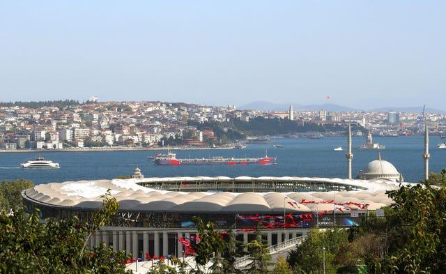A general view of Besiktas Park and Bosporus River, Istanbul Nick Potts/PA)