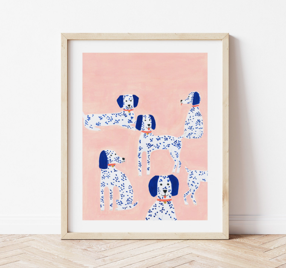 Dalmation Dog Print (Photo via Etsy)