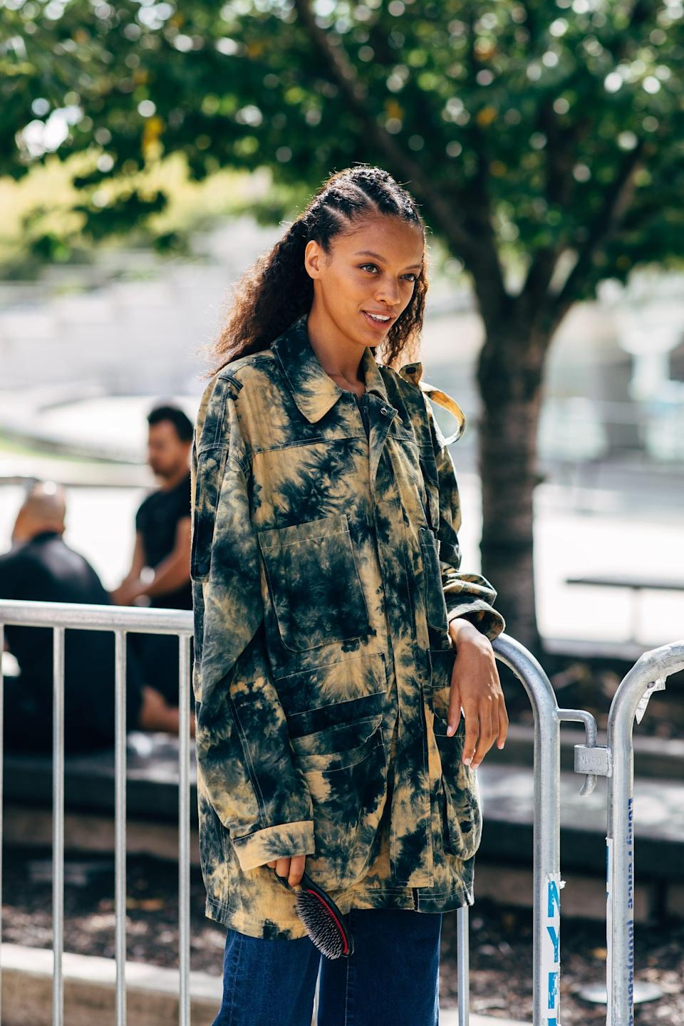<p>Opt for a twist on denim with a summer-forward tie-dye iteration.</p>