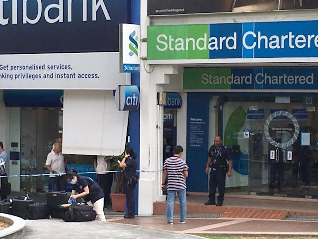 Robbery at Standard Chartered Bank's Holland Village branch