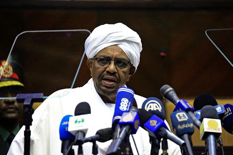 Sudanese President Omar al-Bashir, pictured in April 2018, wants to host peace talks for South Sudan
