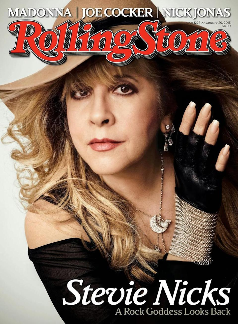 <p><em>Rolling Stone</em> honored the singer-songwriter by putting her on the cover of its January 2015 issue when she was 67 years old. (Photo: Rolling Stone) </p>