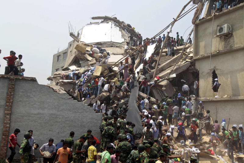 87 dead in Bangladesh garment factory collapse