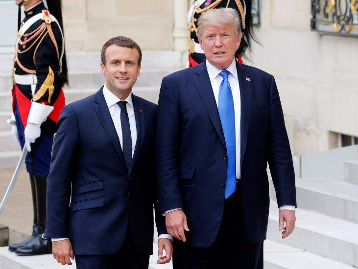 Macron Trump Paris