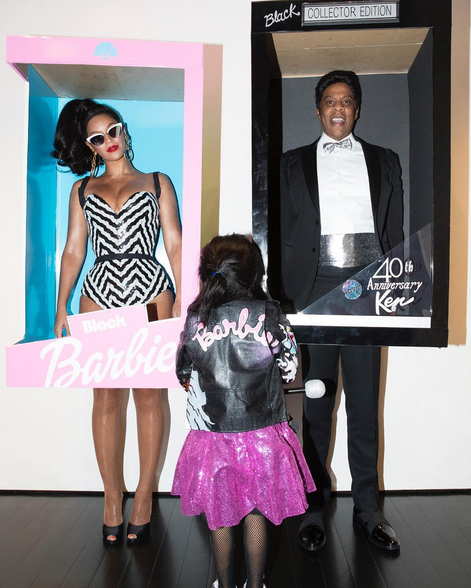 <p>Bey and Jay are so creative at finding Halloween costumes. One year they went as Barbie and Ken — the box and everything — with daughter Blue Ivy as their mascot. (Photo: Instagram/Beyonce) </p>