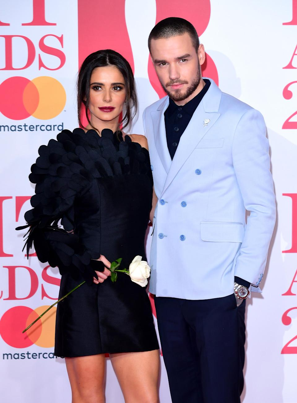 Cheryl and Liam appearing at this year's BRIT Awards. (PA)