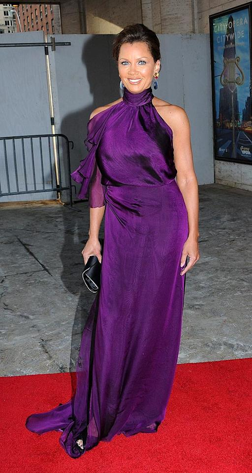 """Very few woman can truly pull off purple, but Vanessa Williams can sport any shade. Janet Mayer/<a href=""""http://www.splashnewsonline.com"""" target=""""new"""">Splash News</a> - May 13, 2009"""