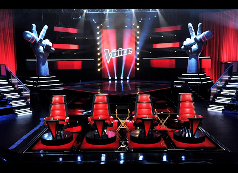 A general view of the set is shown at a press junket for NBC's 'The Voice' at Sony Studios on October 28, 2011 in Culver City, California. (Getty)