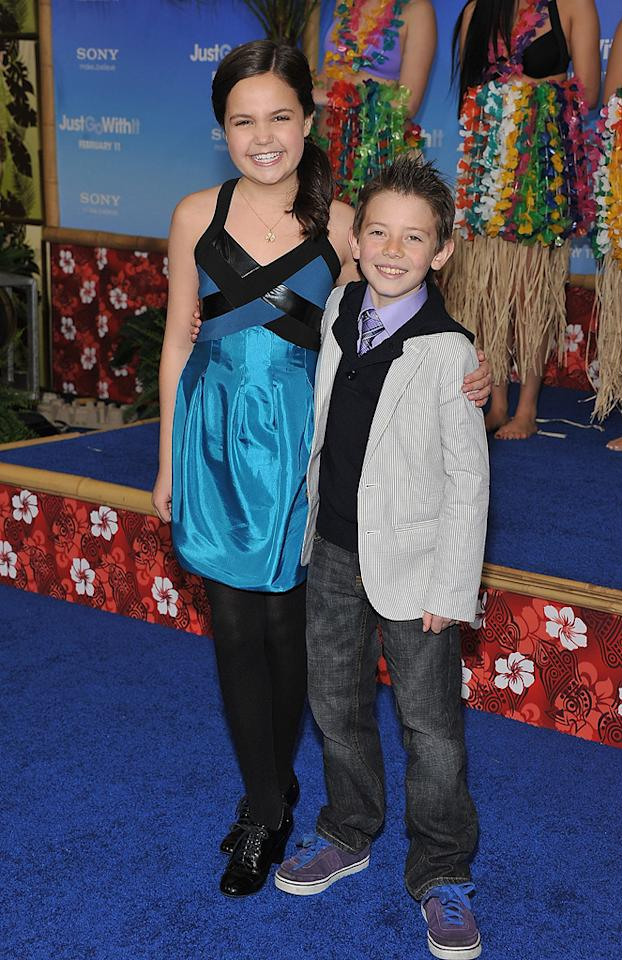 """<a href=""""http://movies.yahoo.com/movie/contributor/1809690126"""">Bailee Madison</a> and <a href=""""http://movies.yahoo.com/movie/contributor/1810195454"""">Griffin Gluck</a> attend the Los Angeles premiere of <a href=""""http://movies.yahoo.com/movie/1810150358/info"""">Just Go With It</a> on February 8, 2011."""