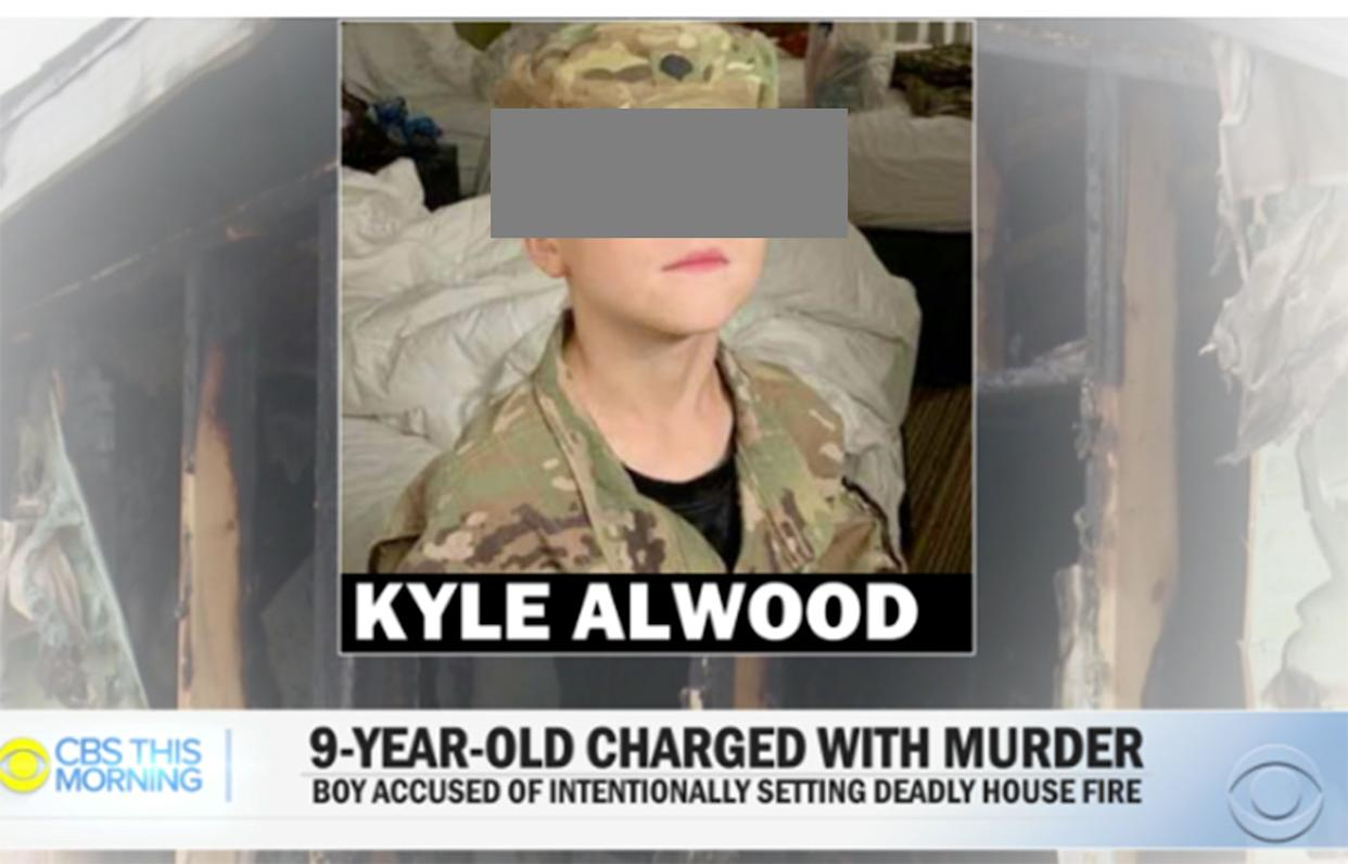 Kyle Alwood's mother told CBS This Morning that he is no monster (Picture: CBS This Morning)