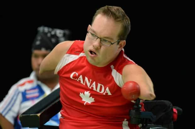 Canada's Josh vander Vies competes in boccia at the 2012 London Paralympics. (Ben Stansall/AFP/Getty Images - image credit)