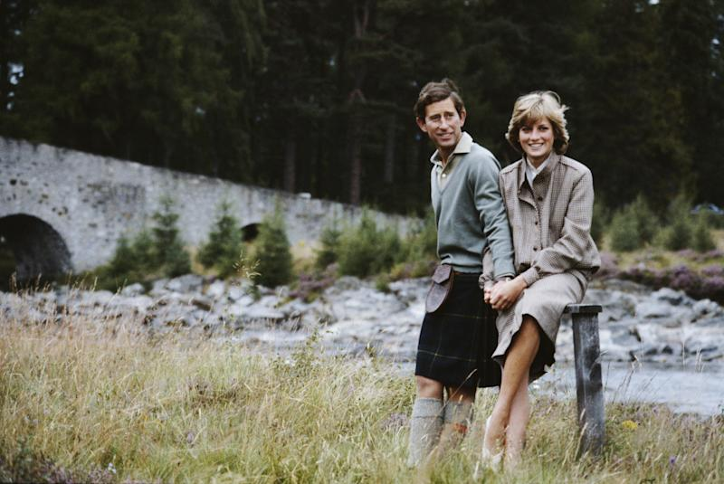 Prince Charles and Diana, Princess of Wales together during their honeymoon in Balmoral, Scotland, 1981. Photo by Serge Lemoine/Getty Images.