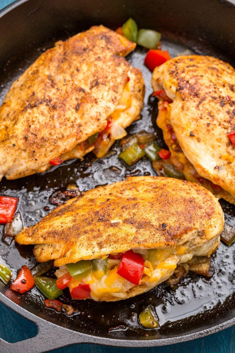 """<p>This zesty, cheesy chicken breast will slay your dinner table.</p><p>Get the recipe from <a href=""""https://patty-delish.hearstapps.com/cooking/recipe-ideas/recipes/a46891/cajun-stuffed-chicken-recipe/"""" rel=""""nofollow noopener"""" target=""""_blank"""" data-ylk=""""slk:Delish"""" class=""""link rapid-noclick-resp"""">Delish</a>.</p>"""
