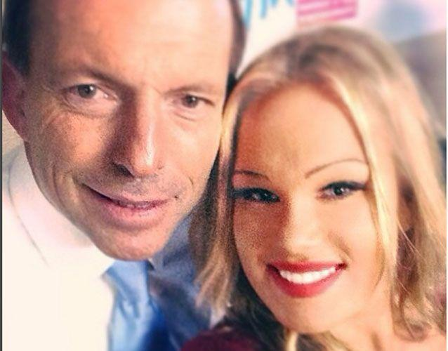 Former PM Tony Abbott is one of a number of politicians the blonde has been snapped with. Photo: Instagram/tammycandy