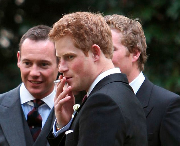 Harry has been a social smoker for years. Photo: Rex