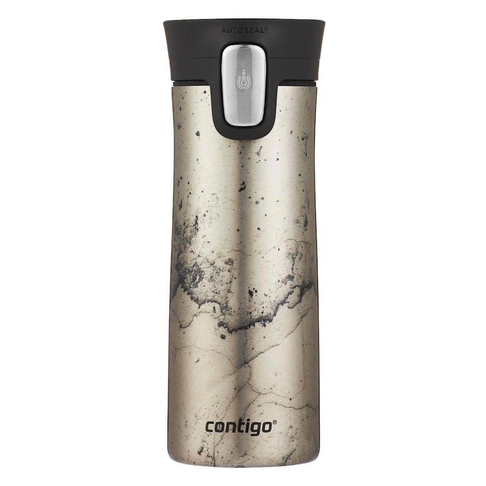 <p>The stylish <span>Contigo Couture Stainless Steel Vacuum-Insulated Coffee Travel Mug</span> ($20) has an autoseal function that will keep your drinks hotter for longer. It comes in a vareity of trendy prints and colors. </p>