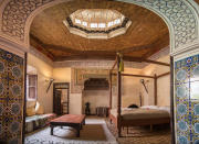 "<p>Located just a short walk from Jemaa el-Fnaa and the Souks, The Cozy Palace in Marrakech has been wish listed 59,838 times. A must for fellow tile appreciatives. <a href=""https://www.airbnb.co.uk/rooms/341978"" rel=""nofollow noopener"" target=""_blank"" data-ylk=""slk:Book now"" class=""link rapid-noclick-resp"">Book now</a>. <em>[Photo: Caters]</em> </p>"