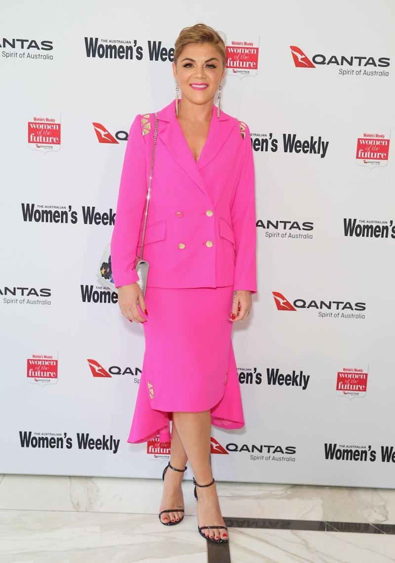 All is well: Em cleared the air and apologised to her boss, Jase. She is pictured here at the Women of the Future awards in Sydney this week. Source: Getty