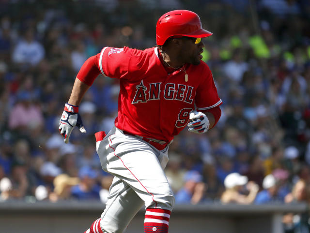 Salt Lake City Bees outfielder Eric Young Jr. hilariously started backpedaling after hitting a soft grounder to first base in an effort to avoid being tagged. (AP Photo/Matt York)