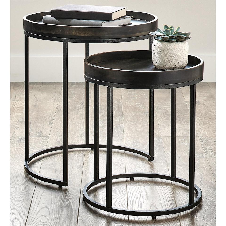 <p>Save space with these stylish <span>Better Homes &amp; Gardens Nesting Tables</span> ($99).</p>