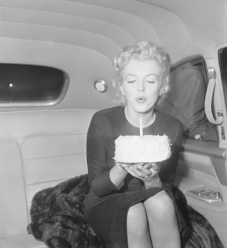 <p>Marilyn blew out the candle on her cake to celebrate her milestone birthday. </p>