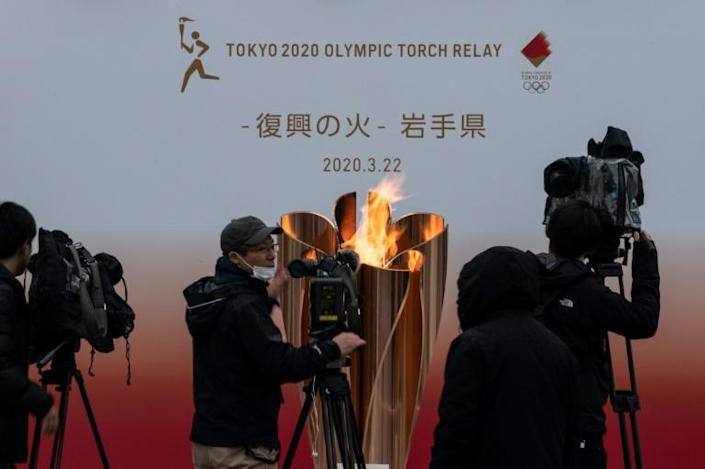 """International Olympic Committee president Thomas Bach said postponing the 2020 Games was an option but that cancellation was """"not on the agenda"""" (AFP Photo/Philip FONG)"""