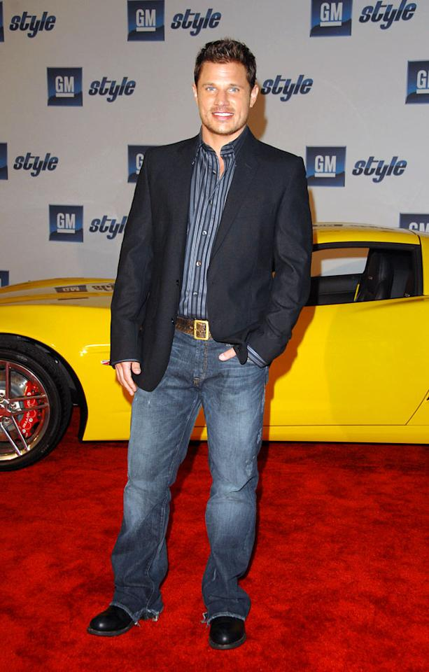 """No-longer-Newlywed Nick Lachey flies solo at the 2007 GM Style event in D-town. George Pimentel/<a href=""""http://www.wireimage.com"""" target=""""new"""">WireImage.com</a> - January 6, 2007"""