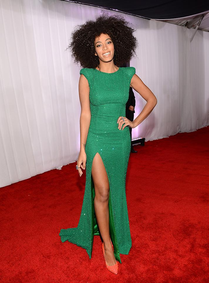 LOS ANGELES, CA - FEBRUARY 10:  Singer Solange Knowles attends the 55th Annual GRAMMY Awards at STAPLES Center on February 10, 2013 in Los Angeles, California.  (Photo by Larry Busacca/WireImage)