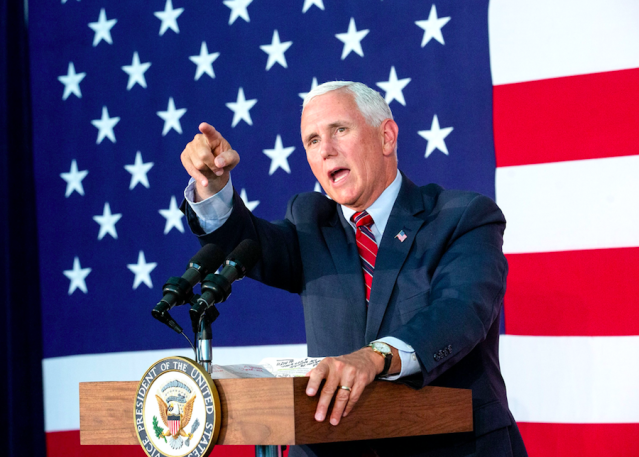 <em>Some people believe Vice President Mike Pence could be the man behind the editorial (Rex)</em>