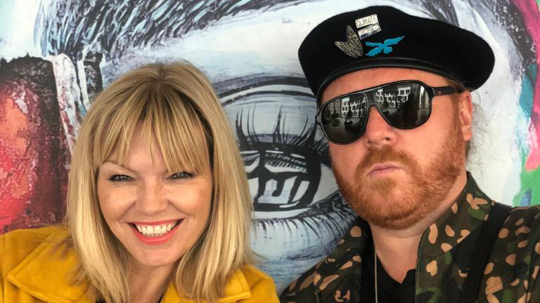 Keith Lemon, seen here with White Wine Question Time host Kate Thornton, claims he's made being ginger cool