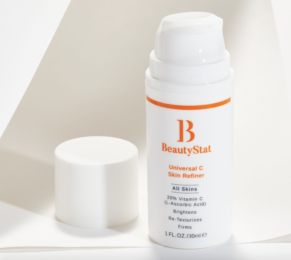 """BeautyStat was founded by Ron Robinson, a cosmetic chemist who has clocked in 20 years of experience creating formulas for big-name brands such as Revlon, Avon, L'Oréal, Clinique, and Estée Lauder, before finally launching his own line in 2019. And well, we're beyond glad that he did because its Universal C Skin Refiner has become one of our favorite vitamin C serums. The creamy solution contains 20 percent pure vitamin C, along with three patented ingredients that make the formula more stable (and, therefore, more effective) than many on the market. The best part? It's even suitable for super-sensitive skin, thanks to a hefty dose of soothing squalane. $50, Nordstrom. <a href=""""https://www.nordstrom.com/brands/beautystat--21767"""" rel=""""nofollow noopener"""" target=""""_blank"""" data-ylk=""""slk:Get it now!"""" class=""""link rapid-noclick-resp"""">Get it now!</a>"""