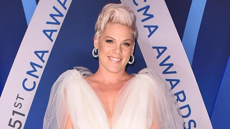 Pink Shares Adorable Pic of Her Kids Getting in the Christmas Spirit!