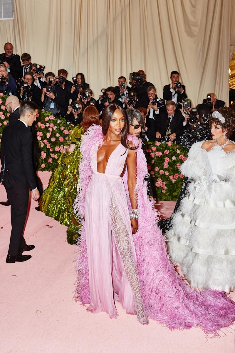 Naomi Campbell on the red carpet at the Met Gala in New York City on Monday, May 6th, 2019. Photograph by Amy Lombard for W Magazine.