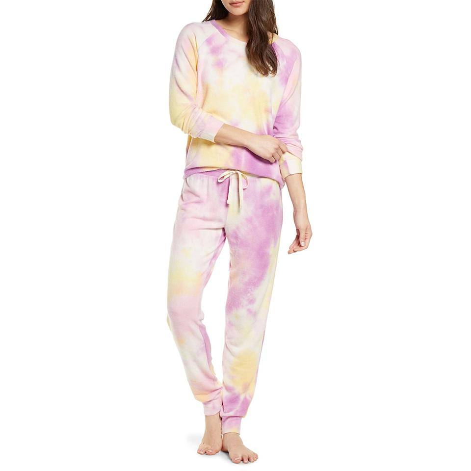 "$75, Nordstrom. <a href=""https://shop.nordstrom.com/s/bp-soft-cozy-sleepy-pajamas/5433943/full?origin=category-personalizedsort&breadcrumb=Home%2FSale%2FAll%20New%20Markdowns&color=purple%20lily%20tie%20dye"">Get it now!</a>"