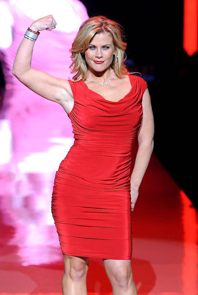 """The Biggest Loser"" host Alison Sweeney showed off her toned guns in a Tadashi Shoji frock. Frazer Harrison/<a href=""http://www.gettyimages.com/"" target=""new"">GettyImages.com</a> - February 9, 2011"