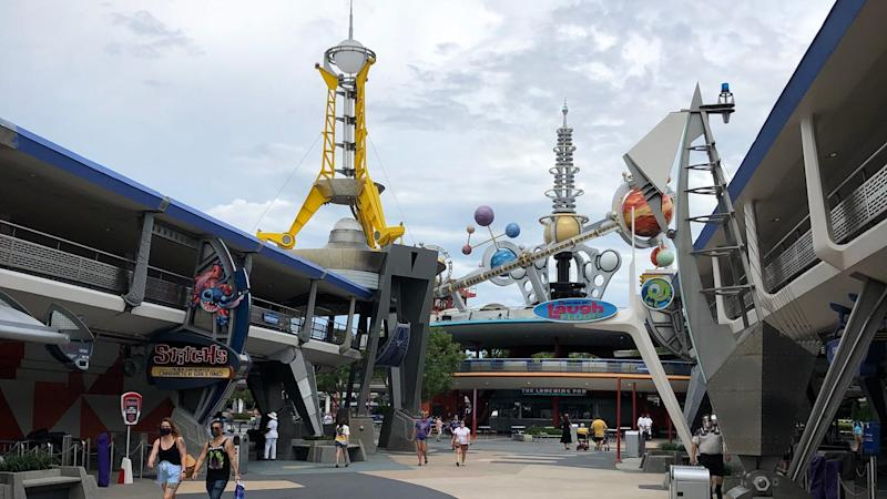 Tomorrowland was deserted on opening day.