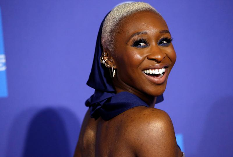 Actor Cynthia Erivo attends the 2020 Palm Springs International Film Festival Awards Gala in Palm Springs, California, U.S., January 2, 2020. REUTERS/Mario Anzuoni REFILE - CORRECTING DATE AND EVENT