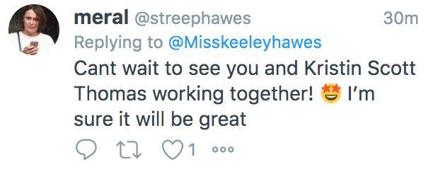 Fans take to Twitter to celebrate Keeley Hawes casting in new movie