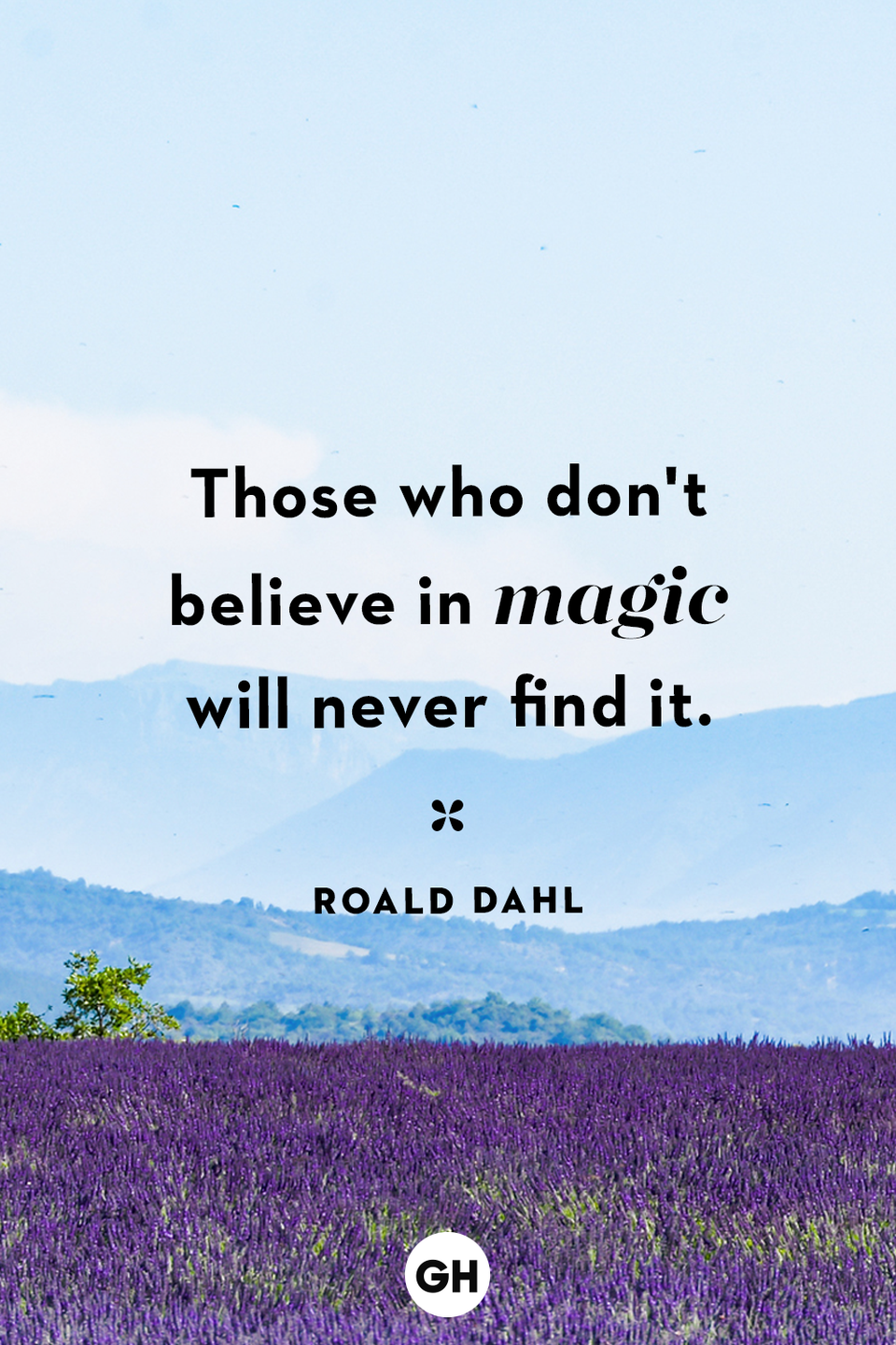 <p>Those who don't believe in magic will never find it.</p>