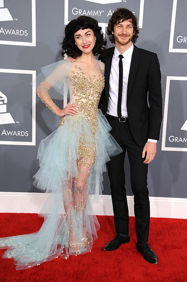 LOS ANGELES, CA - FEBRUARY 10: Musicians Gotye (R) and Kimbra attend the 55th Annual GRAMMY Awards at STAPLES Center on February 10, 2013 in Los Angeles, California.  (Photo by Steve Granitz/WireImage)