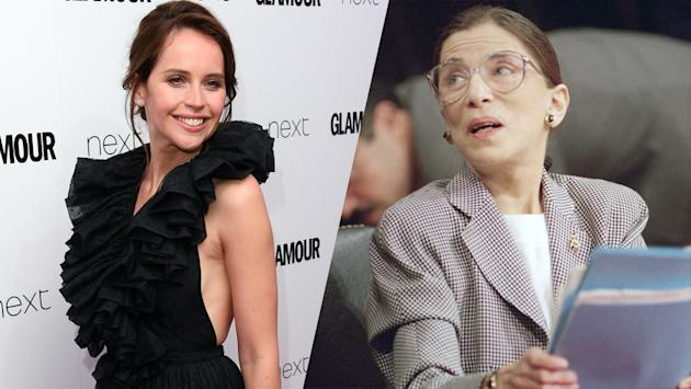 Felicity Jones to play galactic hero Ruth Bader Ginsburg