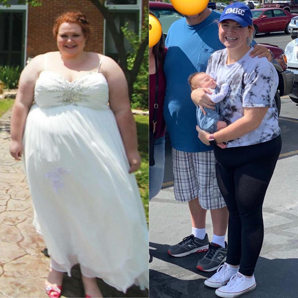 More than a year and a half later, Kara has changed her life by losing an incredible 88kgs, she now weighs 75 and is a size 10. Photo: MDWfeatures / Kara Beck