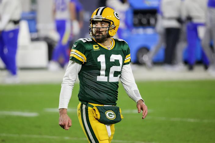 Where will Aaron Rodgers play in 2021? (Photo by Dylan Buell/Getty Images)