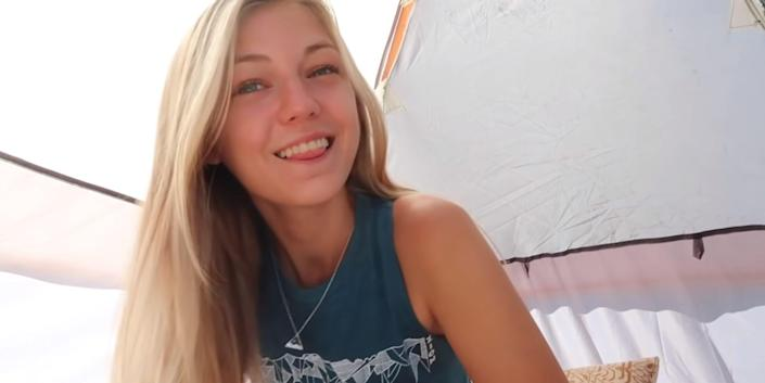 Gabby Petito on her YouTube channel Nomadic Statik