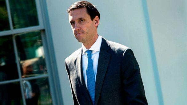 PHOTO: Tom Bossert walks out of the White House campus Sept. 28, 2017 in Washington, D.C. (Brendan Smialowski/AFP/Getty Images, FILE)