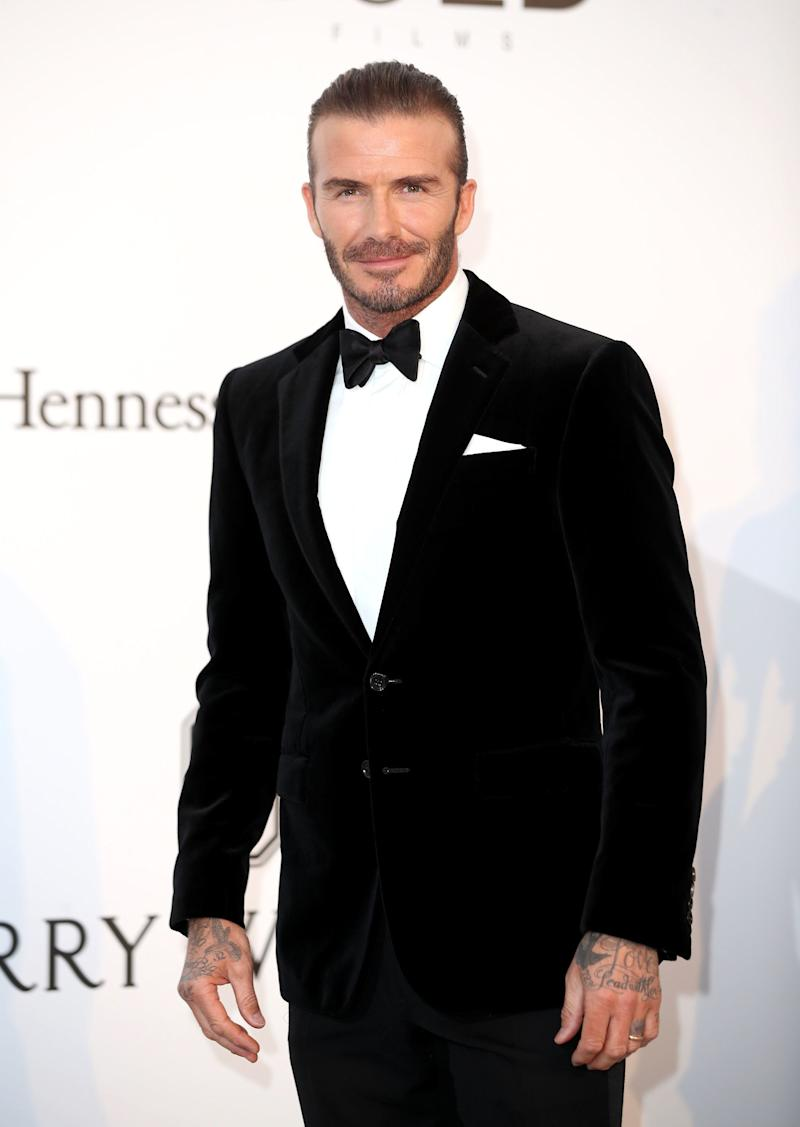 Suave in a velvet suit at the amfAR Gala Cannes 2017.
