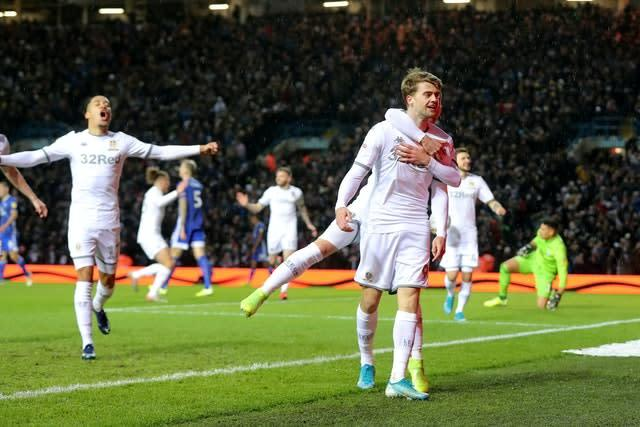 Leeds want to complete the season and seal promotion to the Premier League (Richard Sellers/PA)